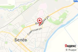 Адрес Газпром межрегионгаз Тула, Суворовская районная служба - Белёвский участок, г. Белёв на карте