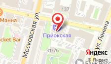 Гостиница Приокская на карте