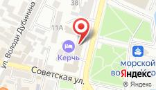 Гостиница Керчь на карте