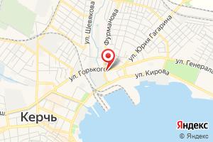 Адрес Керченское УЭГХ ГУП Крымгазсети, абонентский отдел на карте