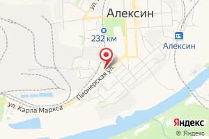 Адрес Газпром межрегионгаз Тула, Алексинская районная служба - Алексинский участок, г. Алексин на карте