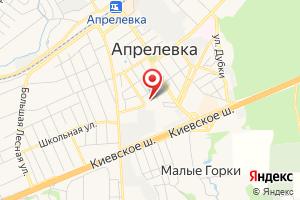 Адрес МУП Водоканал г. Апрелевка на карте