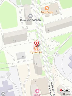 Сеть магазинов Сушисет на карте