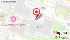 Отель Таёжный на карте