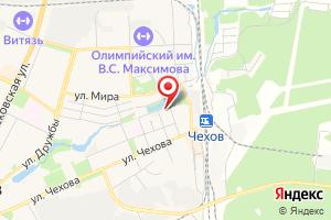 Адрес Прочистка труб канализации и устранение засоров в Чехове на карте