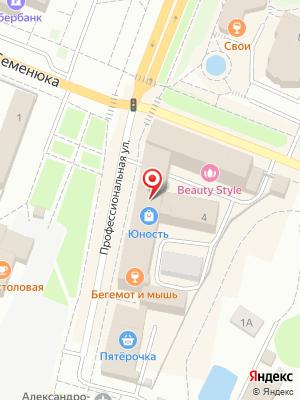 Гриль-бар Бегемот и мышь на карте