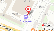 Отель Авиалюкс на карте