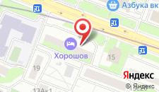 Отель Хорошов на карте