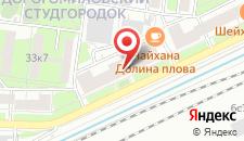 Гостиница Спокойной ночи на Киевской на карте