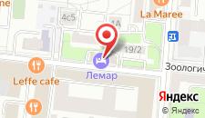 Отель Лемар на карте