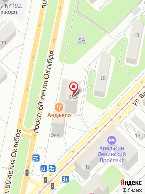 Анджело на карте