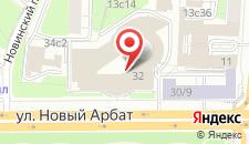 Отель Москва Марриотт Новый Арбат на карте
