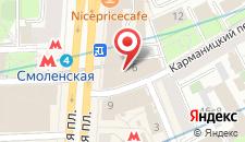 Отель Меркюр Арбат Москва на карте