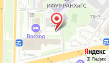 Гостиница ВОСХОД-Заречье на карте