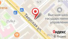 Гостиница Интерконтиненталь Москва Тверская на карте