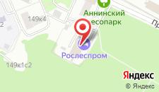 Гостиница Рослеспром на карте