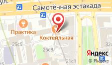 Отель на Цветном на карте