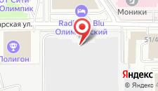 Отель Олимпийский на карте
