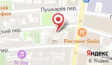 Гостиница GindzaHostel Sretenka на карте