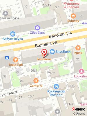 Баловень С на карте