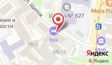 Отель Ибис Москва Павелецкая на карте