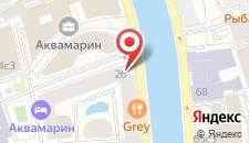 Отель Crowne Plaza Moscow Tretyakovskaya на карте
