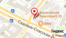 Апартаменты Апельсин на Красных воротах на карте