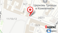 Хостел Павелецкая на карте