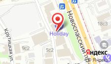 Гостиница Холидей Инн Москва Таганский на карте