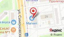 Апартаменты Apartment on Simonovskiy 11 на карте