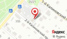 Отель Калина на карте