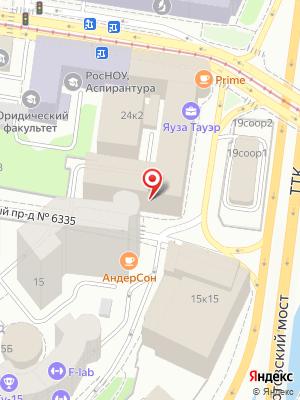 Subway на карте