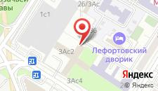 Хостел Лефортовский на карте