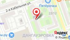 Гостиница Авиамоторная на карте