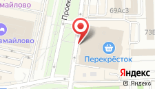 Отель Измайлово Бета на карте