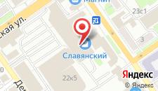 Гостиница Славянка на карте