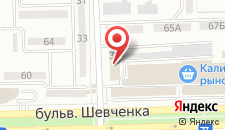Отель Нива на карте