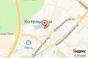 Адрес Прочистка труб канализации и устранение засоров в Котельниках на карте