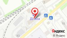 Гостиница Диана на карте