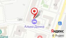 Гостиница Альва Донна на карте