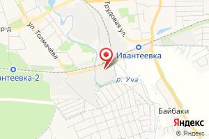 Адрес Прочистка труб канализации и устранение засоров в Ивантеевке на карте