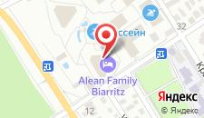 Отель Alean Family Resort & SPA Biarritz 4* на карте