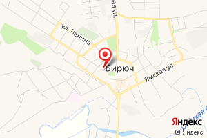 Адрес Газпром межрегионгаз Белгород, абоненский пункт в г. Бирюч на карте