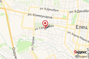 Адрес ОГУП Елецводоканал на карте