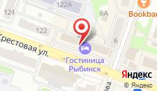 Гостиница Рыбинск на карте
