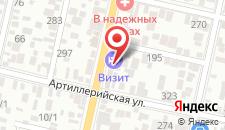 Гостиница Визит на карте
