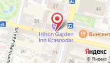 Отель Hilton Garden Inn Krasnodar на карте