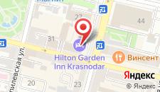Гостиница Hilton Garden Inn Krasnodar на карте