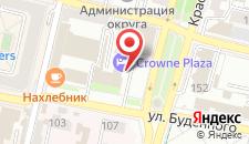 Отель Crowne Plaza Krasnodar - Centre на карте