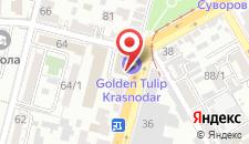 Гостиница Golden Tulip Krasnodar на карте